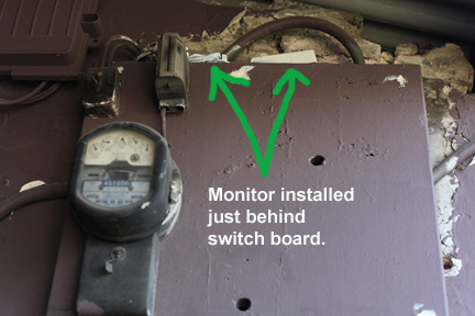 Household energy switch board after energy monitor installation