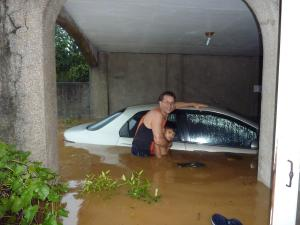Rick's Car destroyed in the Philippines flood